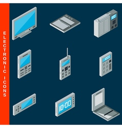 Electronic equipment icons vector