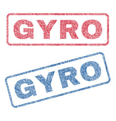Gyro textile stamps vector