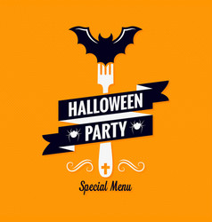 halloween menu design background valformenu vector image vector image