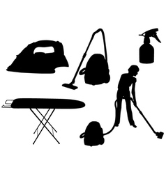 Household appliances silhouette vector image vector image