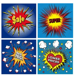icons in pop art style on the theme vector image vector image
