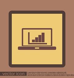 Laptop with symbol diagram vector