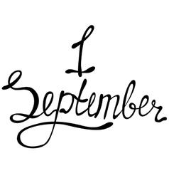 Lettering first september vector