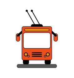 Orange bus design vector