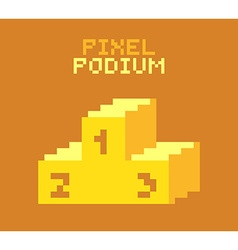Pixel podium vector