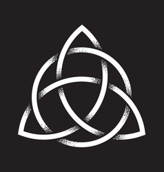 Triquetra dot work ancient pagan symbol vector