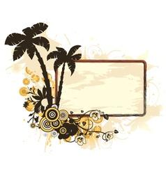 vintage summer frame vector image vector image