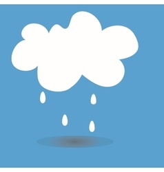 A cloud with drops vector image
