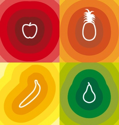 Four fruits vector