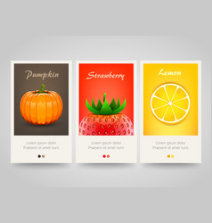 modern colorful vertical fruit vegetable and vector image
