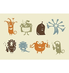Drunk happy monsters vector