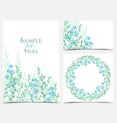 Backgrounds with blue flowers vector