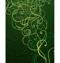 Green abstract ornament background vector