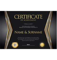 Certificate or diploma retro design collection 6 vector