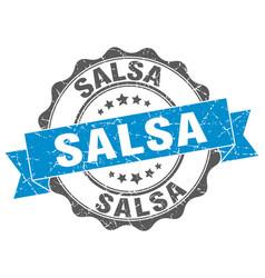 Salsa stamp sign seal vector