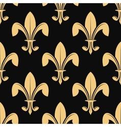Seamless pattern of classical golden fleur de lys vector