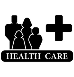 Health care black icon vector