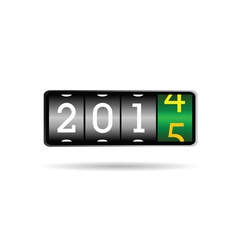 new year counter for 2015 vector image