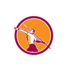 Javelin throw track and field athlete circle vector