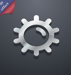 Sun icon symbol 3d style trendy modern design with vector