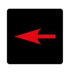 Sharp left arrow flat intensive red and black vector