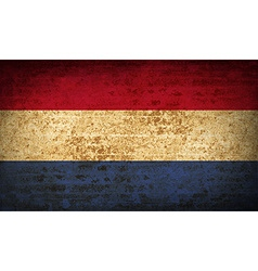 Flags netherlands with dirty paper texture vector