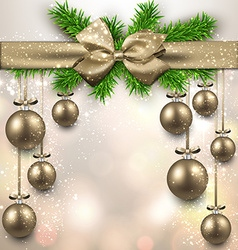 Abstract background with christmas balls vector