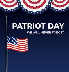 Patriot day we will never forget web banner vector