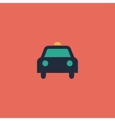 Taxi flat icon vector