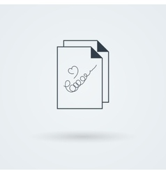 stack of papers vector image