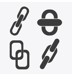 Link symbol design flat  connection vector