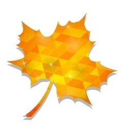 Autumn Yellow Leaf vector image vector image