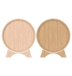 Barrels for beer or wine vector