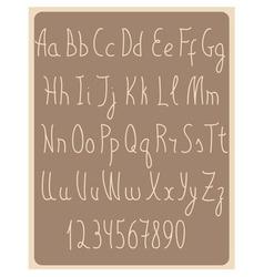 Beige latin alphabet symbols vector image vector image