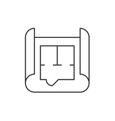 Blueprint roll outline icon vector