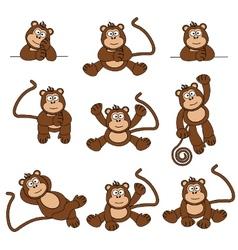 Cheeky monkey vector