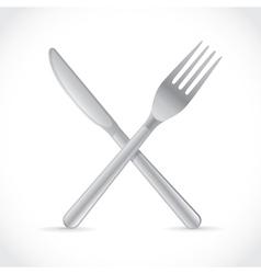 Cutlery crossing vector