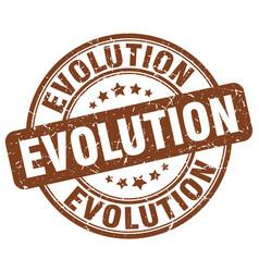 Evolution brown grunge stamp vector