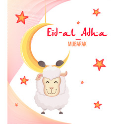 Festival of sacrifice eid al-adha vector