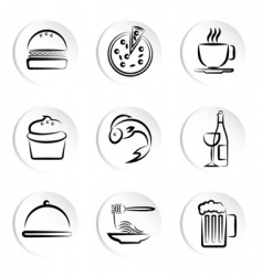 foods icons vector image vector image