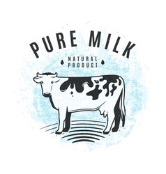 fresh milk from the farm vector image