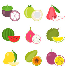 Fruit icons set 2 vector