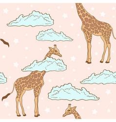 giraffe pink vector image vector image