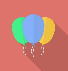 Icon of balloons Flat style vector image vector image