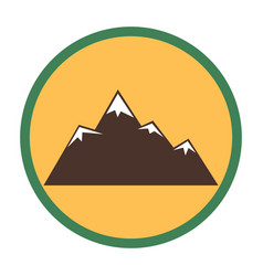 Mountain peaks with snow vector