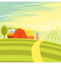 Natural Landscape Farm vector image
