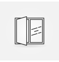 Open window line icon vector image