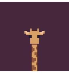 Pixel art giraffe vector