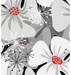 Poppy flowers elegant vector image