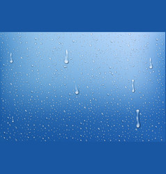 realistic rain drops water background with water vector image vector image